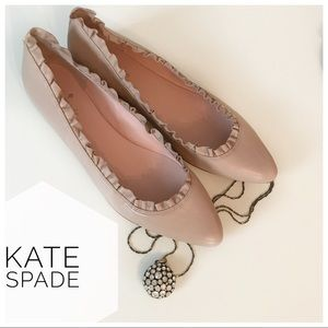 {Kate Spade} like new pink leather pointed flats